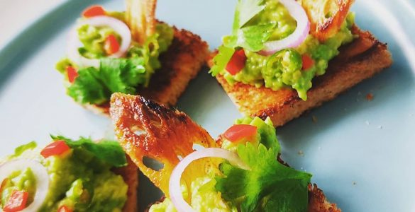 Avocado and Lotus Root Canapes Recipe
